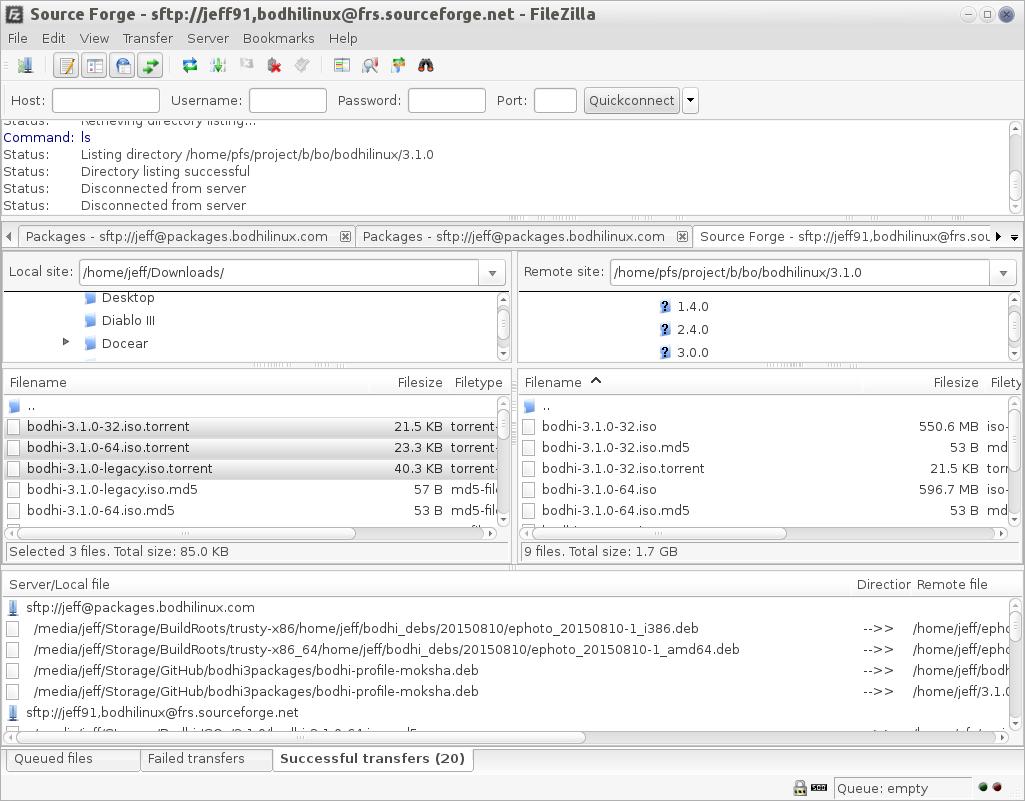 Filezilla   Bodhi Linux