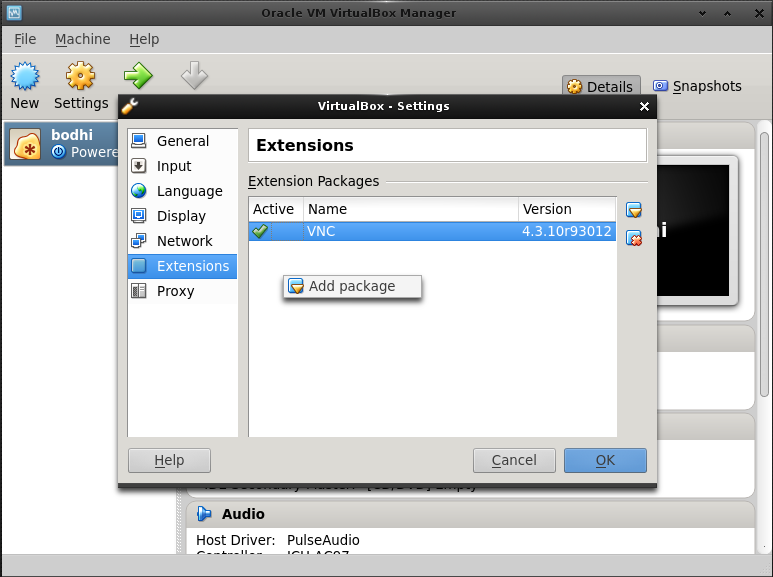 VirtualBox and Bodhi as Host | Bodhi Linux