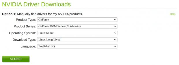 Nvida Driver Selection